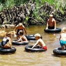 Tubing in the river, Boskloof Swemgat